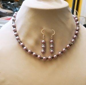 Necklaces plus earrings